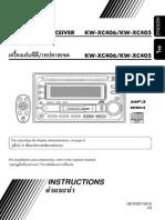 Car Stereo Deck KW-XC405 Manual (Nissan Latio)