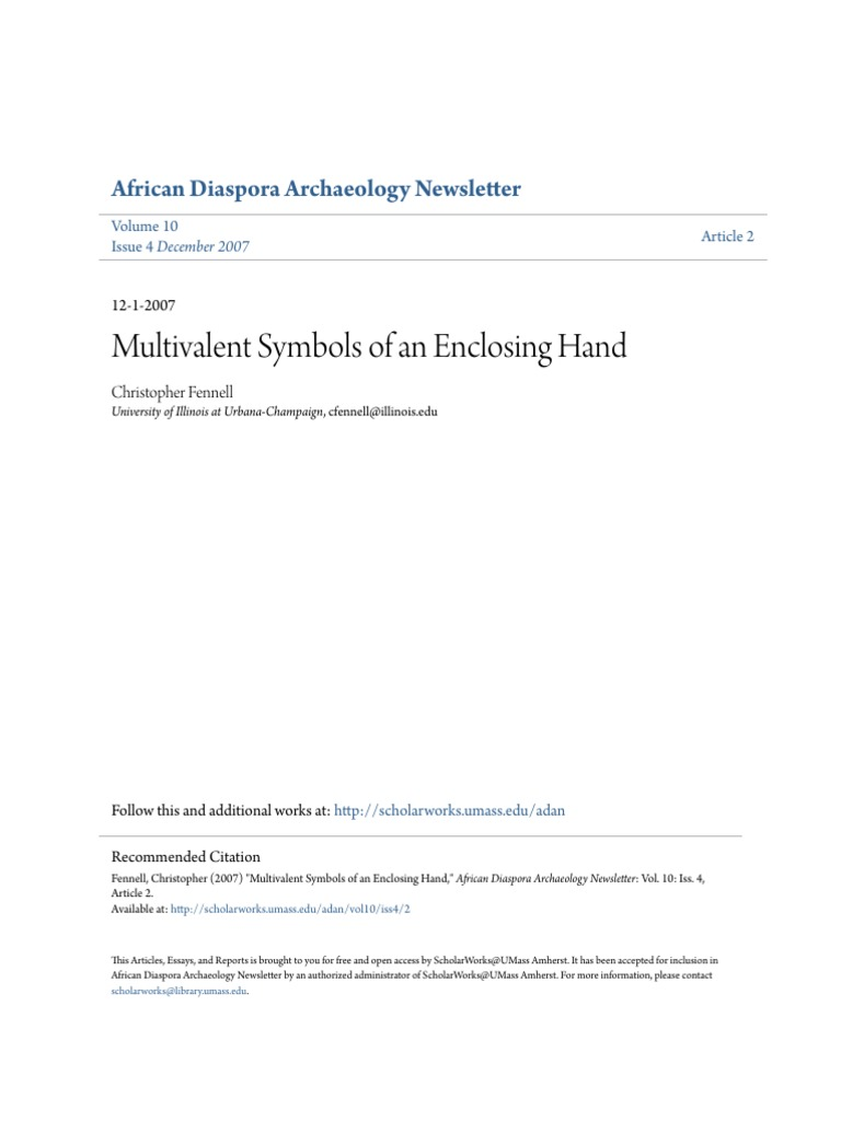 Multivalent Symbols Of An Enclosing Hand Representation Arts