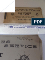 Military Railway Service Eqipment Data Book