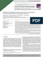 2013 Evaluation of Maxillary Arch