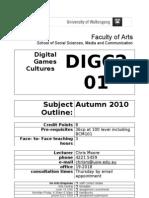 DIGC201 Digital Games Cultures Subject Outline Feb 23 2010