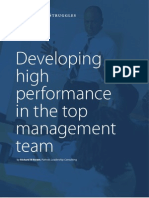 Developing High Performance in the Top Management