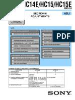 Sony DcHC15 Manual de Ajustes Ver1.0