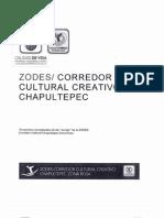 Proyecto Conceptual ZODES Corredor Cultural Chapultepec