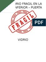 Letrero Fragil