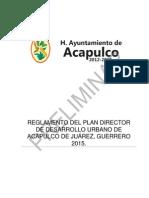 Reglamento de Nuevo Plan Director Urbano 2015 (Preliminar Para Consulta Publica)