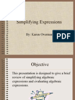 Simplifying Expressions.ppt