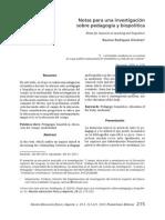 Notas Para Una Investigacion Sobre La Pedagogía y Biopolitica