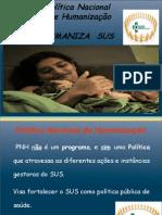9 Politica Nacional de Humanização Humaniza Sus
