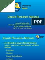 Dispute Resolution Methods