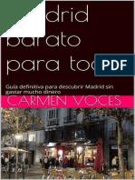 Madrid Barato Para Todos - Guía - Carmen Voces