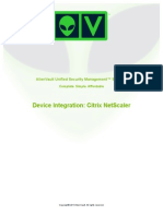 Alien Vault Device Integration Citrix NetScaler