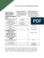 school supply list for mrs  plain 2015-2016