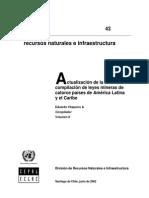 Actualización Compilación Leyes Mineras América Latina y Caribe