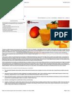 Smothie o Batido de Naranja y Mango - Recetasderechupete.com