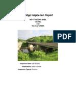 Bridge inspection report