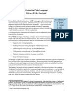Center for Plain Language Privacy Policy Analysis