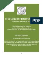 Programa y Resumenes - III Coloquio de Filosofía Social