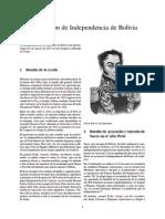 Declaración de Independencia de Bolivia