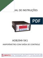 Amperímetro Saida Rele AOB294I-5K1