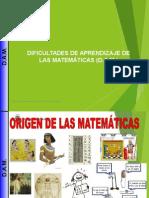 Dificultad de Aprendizaje de las Matemáticas-DAM