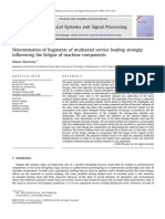 Determination of fragments of multiaxial service loading strongly influencing the fatigue of machine components