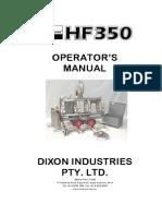 Dixon Hf350 Op Man