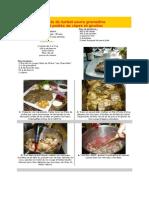 Filets de Turbot Sauce Grenadine Et Poêlée de Cèpes Et Girolles