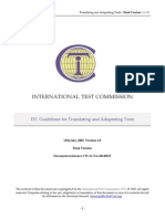 ITC Guidelines for Translating and Adapting Tests