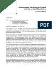 Letter Regarding Expelled Boulder Fraternity Chapters