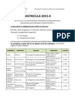 FCEH-Matrícula 2015 II