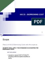 Ias 23 – Borrowing Cost