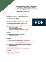 Cronograma de Imunologia Pratica Medicina 3º Periodo
