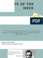 chapter 16 3 & 16 4 quote of the week
