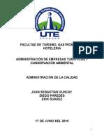 Ad. de La Calidad, Producto Turistico (1)