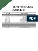 class schedule 15-16