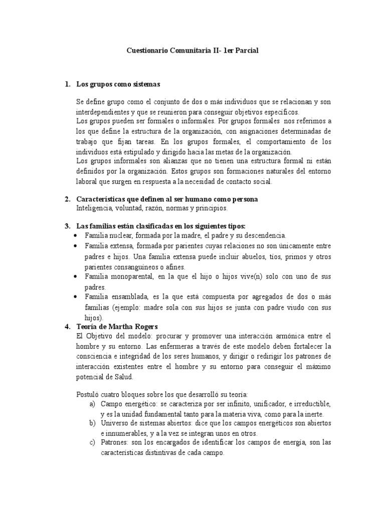 Cuestionario Comunitaria Ii 1