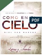 Miel San Marcos - Como en El Cielo (Acordes y Letras) (2015)