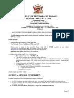 Cape June 2015 Instructions