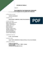 HUGO MARTIN ATOMICA CORDOBA INFORME TRABAJO 47* FERIA DE CIENCIA Y TECNOLOGIA SOBRE TRATAMIENTO DE ALIMENTOS CON RADIACIONES IONIZANTES