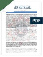 Japa Retreat 2008 - Agenda