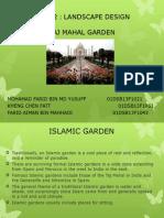 Taj Mahal Garden. Landscape Architecture