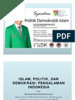 Romahurmuzy - Islam Dan Demokrasi