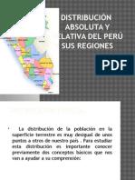 Distribución Absoluta y Relativa Del Perú y Sus