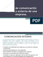 Herramientas de Comunicación Interna y Externa