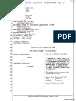 Vanginderen v. Cornell University - Document No. 18