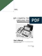 GP 1 Earth Tester Ground Probe Manual