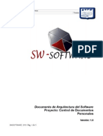 Documento de Arquitectura Del Software SWSOFTWARE v1.0