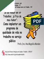 Como Implantar Programa de Qualildade de Vida No Serviço Publico - AnaMagnoliaMendes - QVT