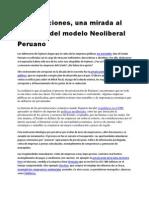 Privatizaciones, una mirada al gobierno del modelo Neoliberal Peruano